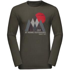 Jack Wolfskin Mountain Koszulka z długim rękawem Mężczyźni, dark moss